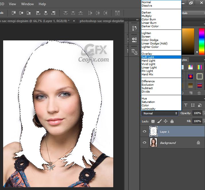 Photoshop'da Saç Rengi Nasıl Değiştirilir?