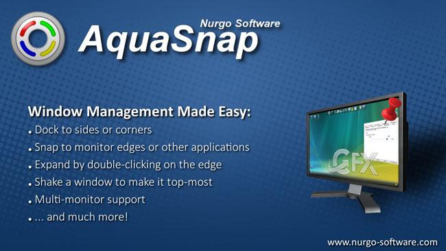 Aqua Snap İle Pencereleri Üst Üste Tuttur