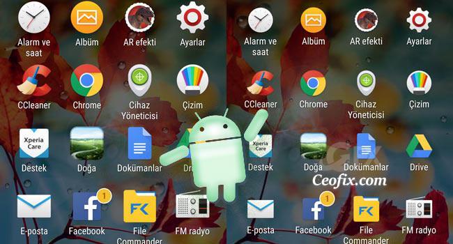 Android Telefonda Büyük Simgeler Kullanma
