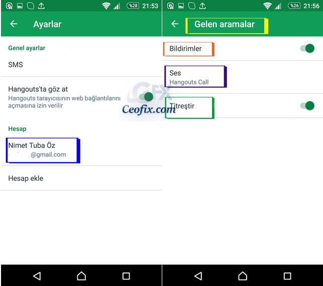 Android Cihazda Google Hangouts Bildirim Sesini Ayarlama