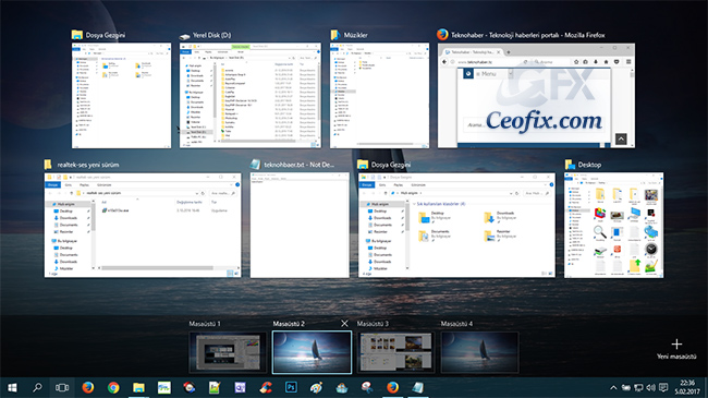 Windows 10 'da Çoklu Görevler Nasıl Ayarlanır
