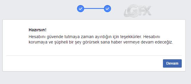 Facebook hesabınız açıldı