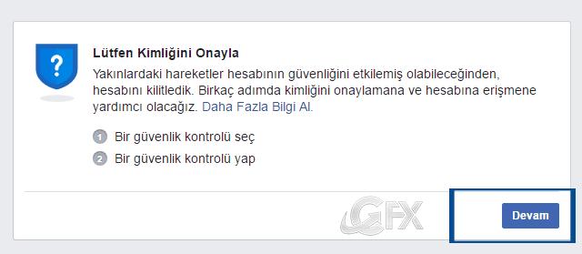 Facebook güvenlik-kimliğini onayla