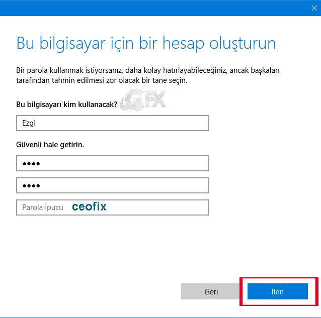 Windows 10 da İkincil Bir Kullanıcı Hesabı Nasıl Oluşturulur
