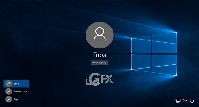 Windows 10'da  5 Farklı Yol İle Oturum Değiştirme