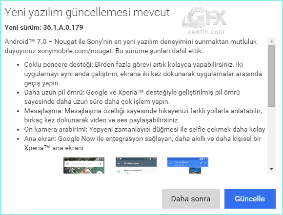 android güncelleme