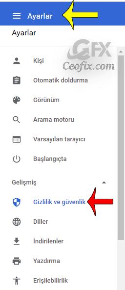 Chrome'da sağ alt köşede beliren bildirimleri engelleyelim.