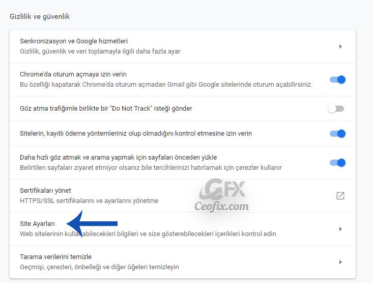 Chrome Sağ Alt Köşede Beliren Bildirimler Nasıl Engellenir