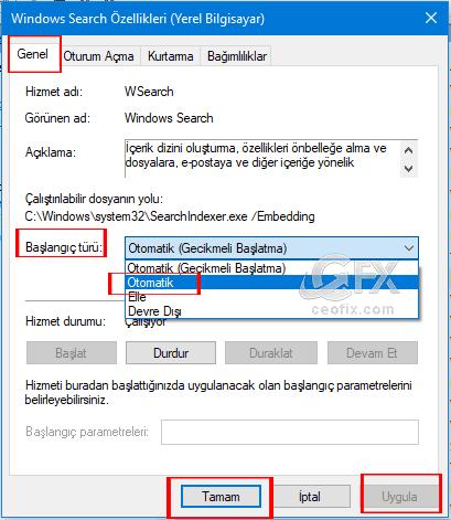 Windows 10 Arama Çalışmıyor Sorunun Çözümü