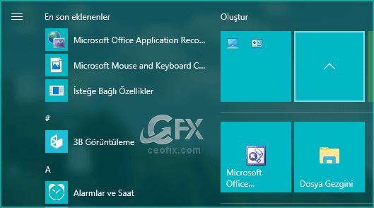 Windows 10 Metro Menüde Canlı Klasör Nasıl Oluşturulur?