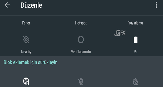 Android Nougat Özelleştirilmiş Bildirim Sekmesi