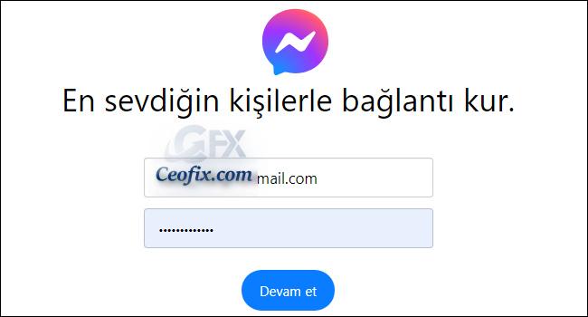 Messenger Web İle Facebook'a Giriş Yapmadan Sohbet Et