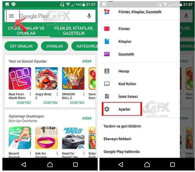 google play store da arama geçmişi