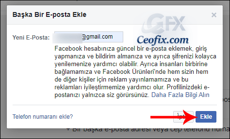 facebook e-posta değiştir