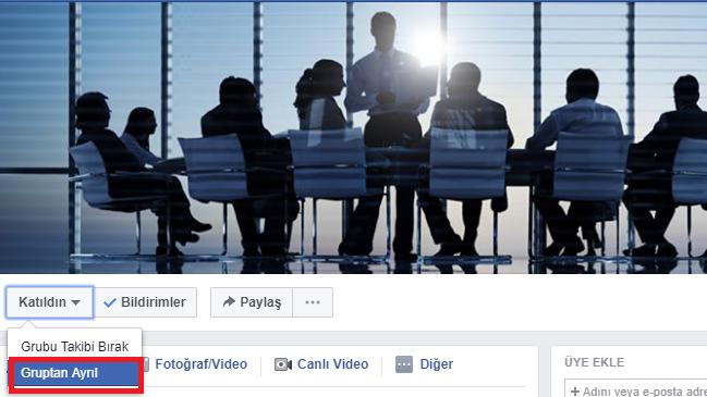 Bir Facebook Grubundan Nasıl Ayrılınır?