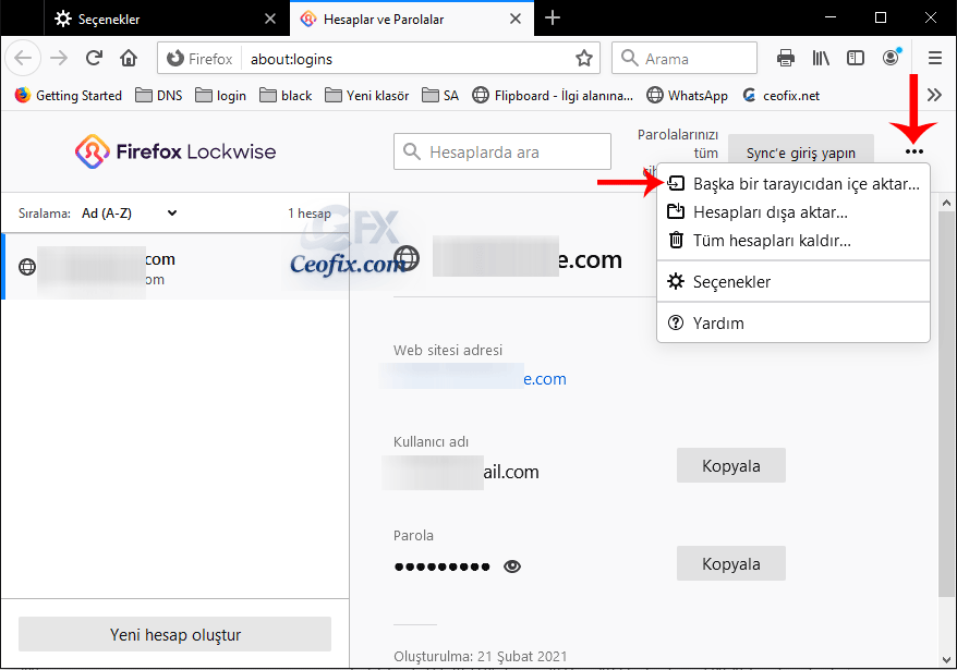 Chrome verileri Mozilla Firefox'a nasıl aktarılır.
