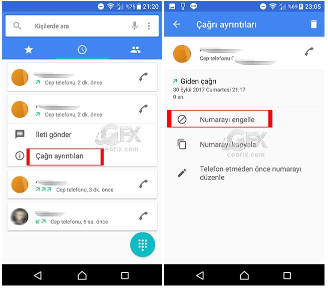 Android Telefonlarda Programsız Telefon Numarası Nasıl Engellenir?