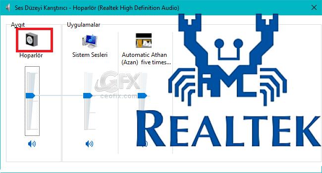 Realtek High Definition Audio Masa Üstüne Kısa Yol Ata