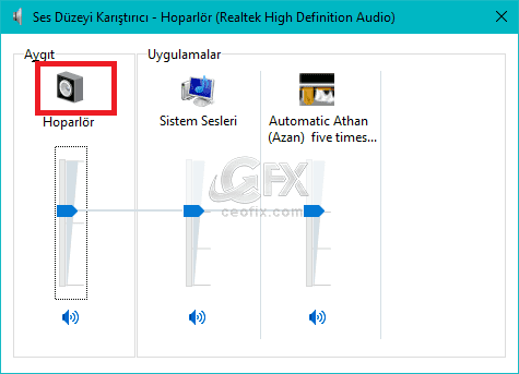 Realtek High Definition Audio Masa Üstüne Kısa Yol Ata