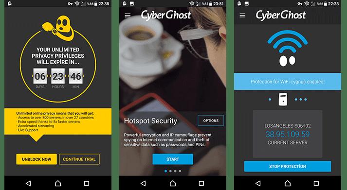 Android Cihazlarda CyberGhost 6.0 VPN Nasıl kullanılır?
