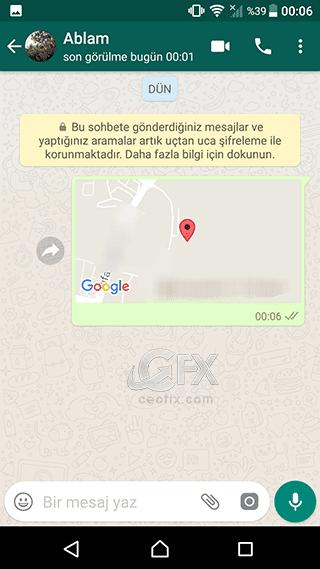 Whatsapp'da konum nasıl atılır?