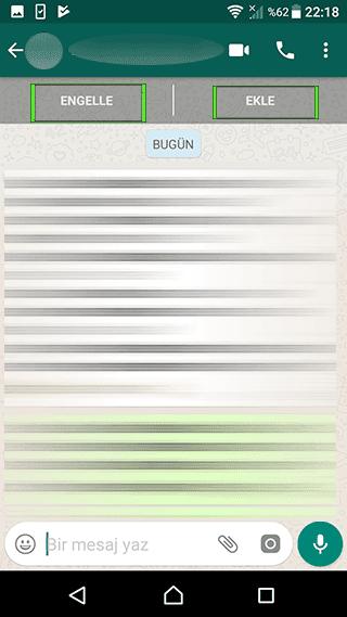 Whatsapp'da kişileri nasıl enellerim?