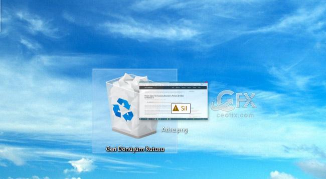 Dosyaları Geri Dönüşüm Kutusuna Göndermeden Sil