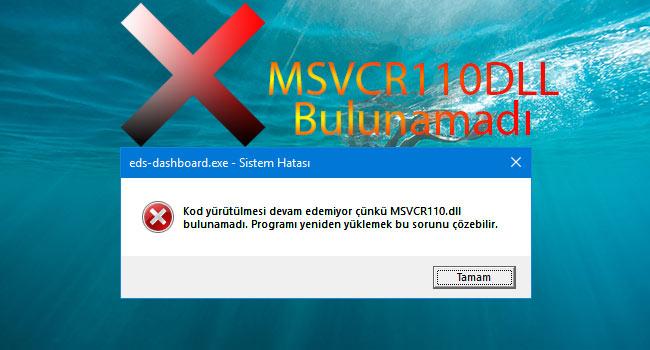 MSVCR110.DLL Hatasının Çözümü