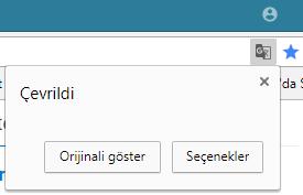 google chrome çeviri özelliği