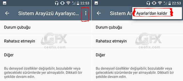Android'de Deneysel Özellikleri Etkinleştirme