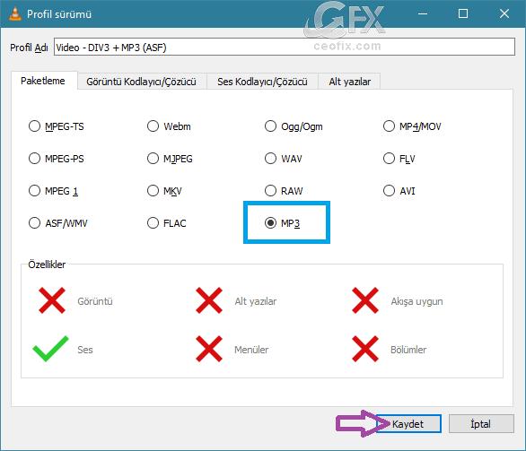 VLC İle Her Ses Formatını MP3 Formatına Çevir