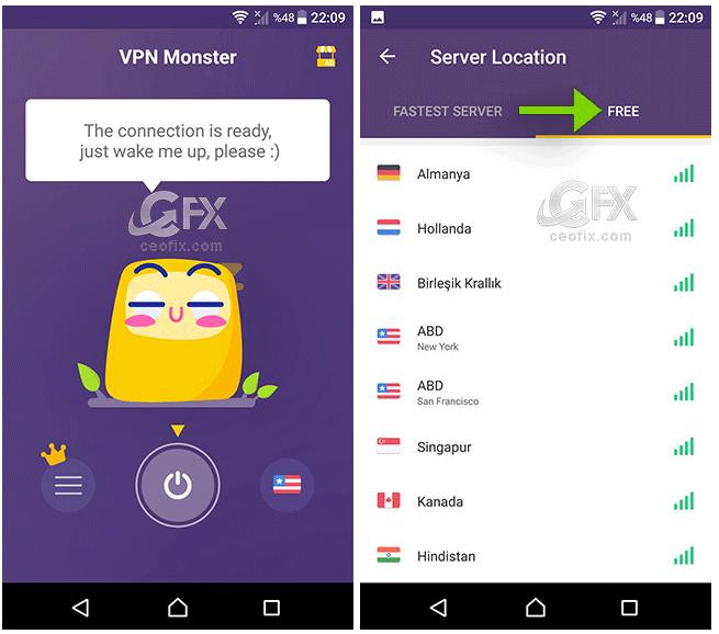Android Telefonlar İçin Ücretsiz VPN