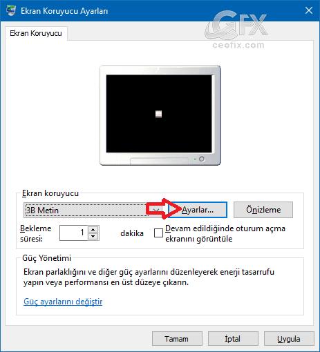 Klasik ekran koruyucu