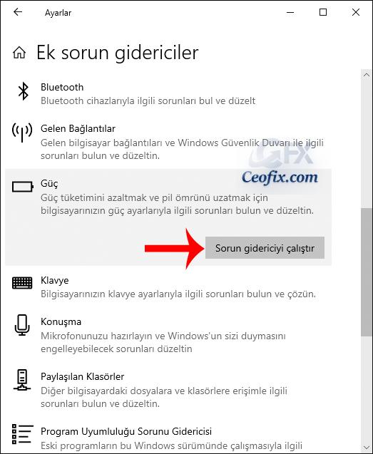 Windows 10'da Pilinizin Şarj Edilme Sorunları Çözme