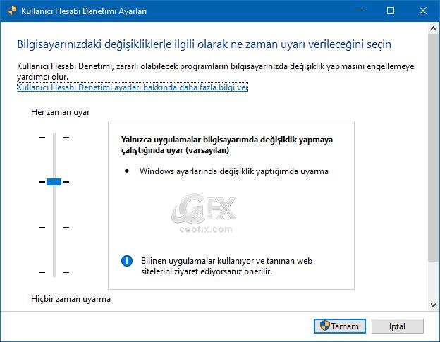 Kullanıcı hesabı denetimi nerede? Kullanıcı hesabı denetimini nasıl açarım?
