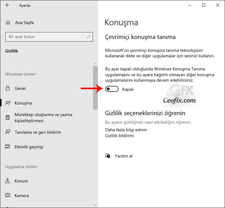 Windows 10'da Gizliliğini Koru