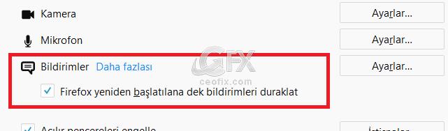 Firefox bildirimler