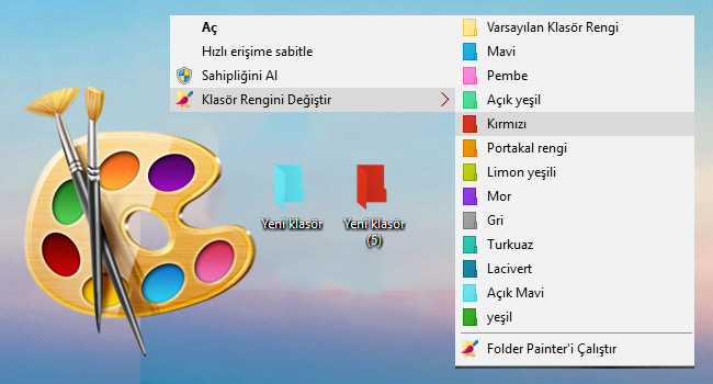 Özel Klasörlerinizi Renklendirin Veya Simge Ekleyin