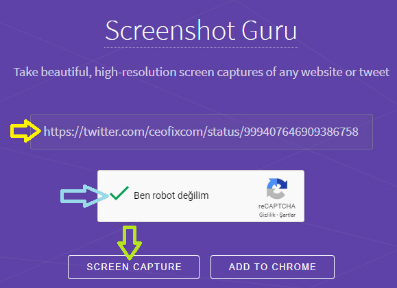 bir tweet'in ekran görüntüsünü alma-www.ceofix.com
