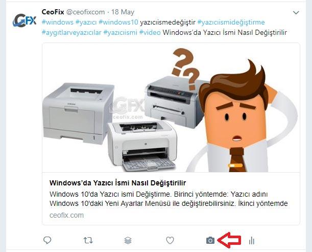 Chrome eklentisi ile bir tweet'in ekran görüntüsünü alma-ceofix.com