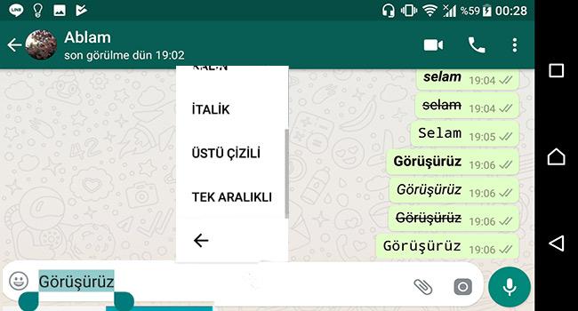 Whatsapp Yazı Stilini Değiştirmenin 2 Yolu-Programsız-