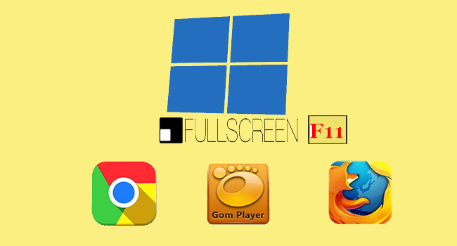 Windows 10'da F11 İle Tam Ekranda Gom PLayer Ve Chrome Açma