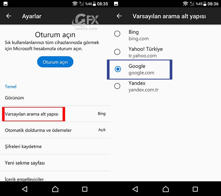 Arama motoru nasıl Google ayarlanabilir