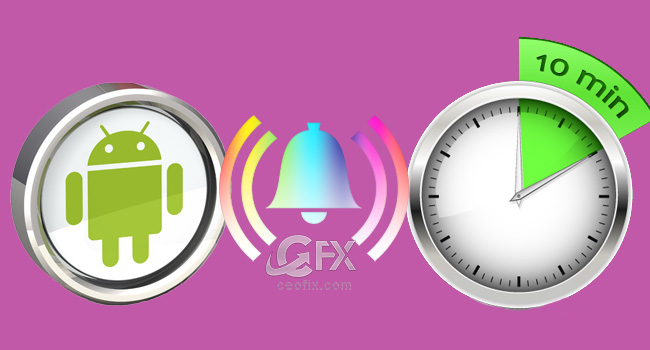 Android'de Geri Sayım Sayacının Zil Sesini Değiştir