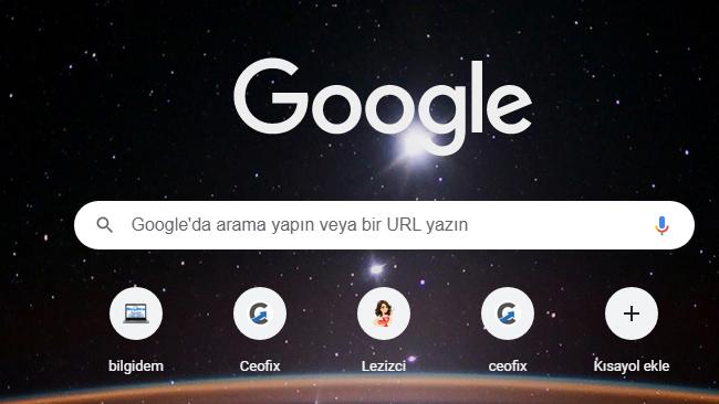 Chrome Sayfasında Arka Planı Değiştir