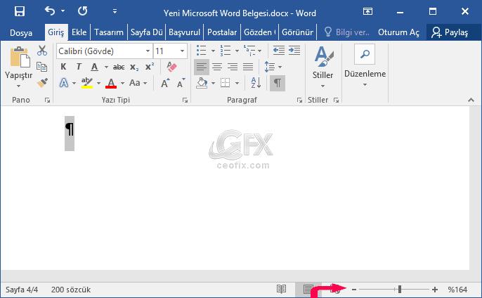 Microsoft Word Belgesinin Sonundaki Boş Sayfaları Silin