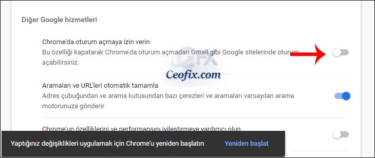 Google Chrome'u oturum açmadan kullan!