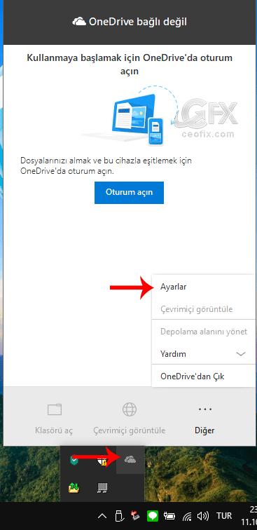 OneDrive'ın otomatik açılmasını devre dışı bırakın: