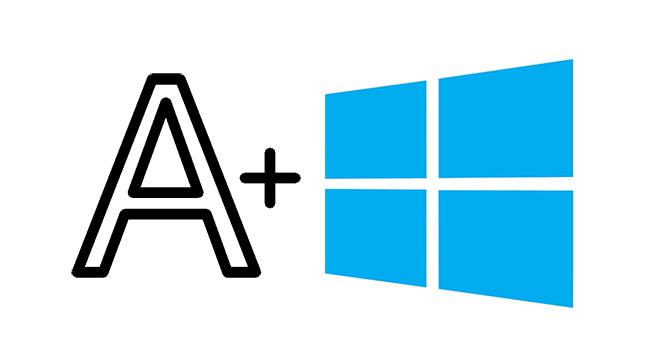 Windows 10 Yazı Boyutunu Büyütme