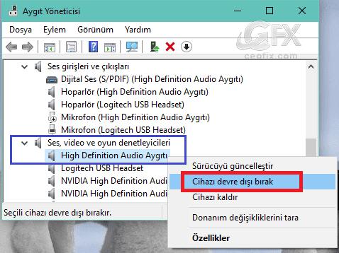 Bilgisayarda Dahili Mikrofon Nasıl Kapatılır